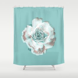 She promised she'd dance with me if I brought her a red rose. Shower Curtain