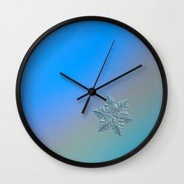 Real snowflake - 13 February 2017 - 5 alt Wall Clock