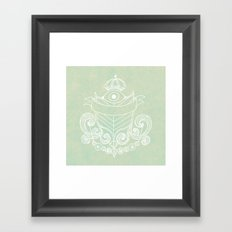 The Evil Eye Emblem  Framed Art Print
