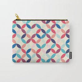 Blue and pink circles Carry-All Pouch