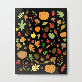 Autumn Design Metal Print