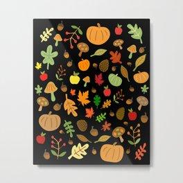 Autumn Design Metal Print
