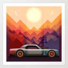 Into the Sun, Ford Mustang 65 KB Art Print