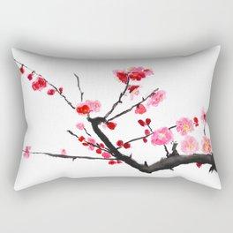 red plum flower Rectangular Pillow