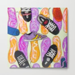 skate shoes  Metal Print