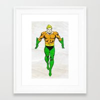 aquaman Framed Art Prints featuring Aquaman by Popp Art
