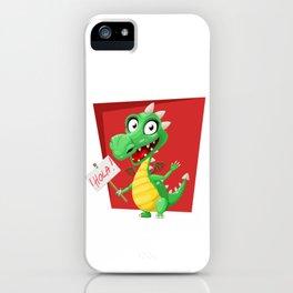 Dragon Says Hola iPhone Case