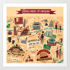Edible Map of Dublin Art Print