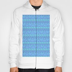 Aztec duo color blue pattern Hoody