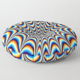 acid funky funny drippy design Floor Pillow