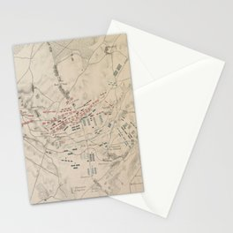 Vintage Battle of Waterloo Map (1846) Stationery Cards