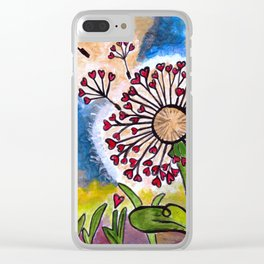 Hold Me Gently ~ Like a Dandelion Clear iPhone Case