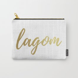 Lagom - Gold Foil Carry-All Pouch