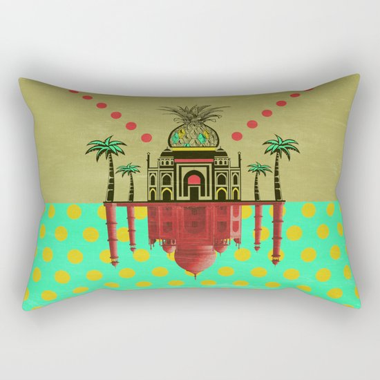pineapple architecture 2 Rectangular Pillow