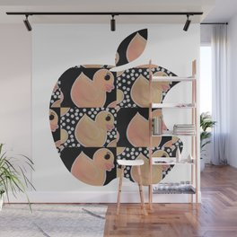 Baby Duck Dots Wall Mural