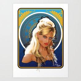 Art Nouveau Girl Art Print