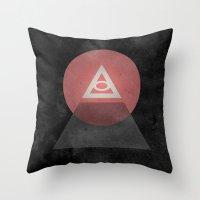 illuminati Throw Pillows featuring Illuminati by Ed Burczyk