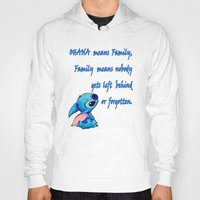 lilo and stitch Hoodies featuring Lilo & Stitch - Ohana Quote by MarcoMellark