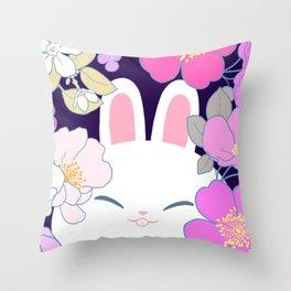 Night Bun Throw Pillow