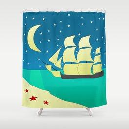 Spanish Galleon Shower Curtain