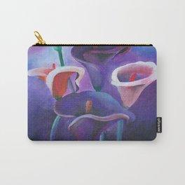 Purple Callas Carry-All Pouch