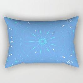 Psychadelic Space Mandala - Periwinkle Rectangular Pillow