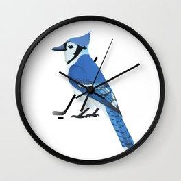 Ice Hockey Blue Jay Wall Clock