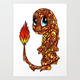 Stained glass Char Art Print