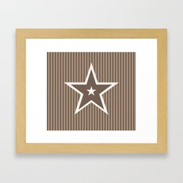 The Greatest Star! Coffee and Cream Framed Art Print