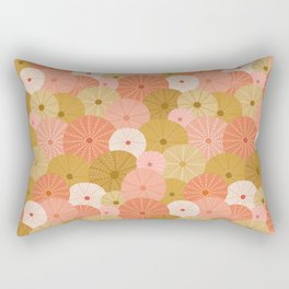 Sea Urchins in Coral + Gold Rectangular Pillow