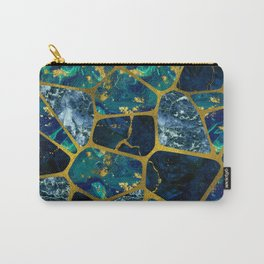 Voronoi diagram Gold Gemstone texture Carry-All Pouch