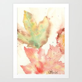 Fall Leaves 2016 Art Print