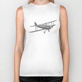 Vintage airplane Biker Tank