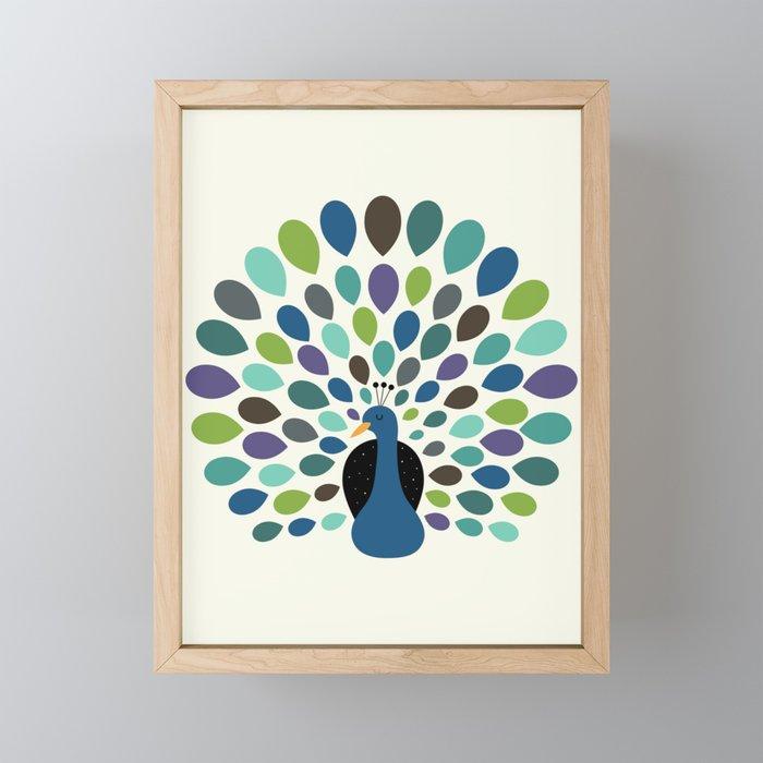 Peacock Time Framed Mini Art Print