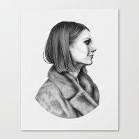 tenenbaum Canvas Prints featuring Margot Tenenbaum by Alex Rombough