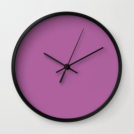Bodacious purple pink | Solid Colour Wall Clock