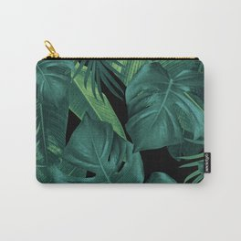 Tropical Summer Night Jungle Leaves Dream #1 #tropical #decor #art #society6 Carry-All Pouch
