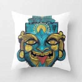 Morpho Mask Throw Pillow