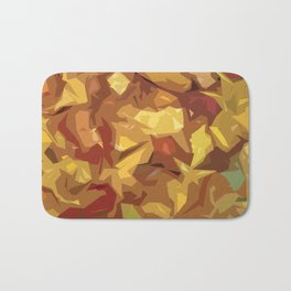 Fall colors pattern Bath Mat
