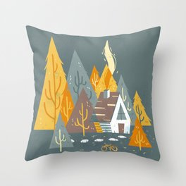 Forest Home Throw Pillow