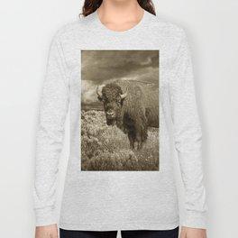 American Buffalo in Sepia Tone Long Sleeve T-shirt