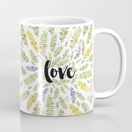 Love Love Love Green Coffee Mug