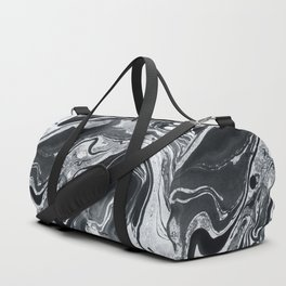 Marble in Black Ink Duffle Bag