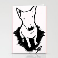 bull terrier Stationery Cards featuring bull terrier by sabrina.gennari
