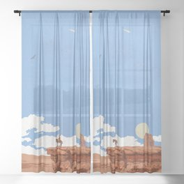 OUT WEST Sheer Curtain