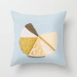 Mac n' Cheese Statistics Throw Pillow