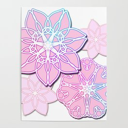 Abstract Lotus Flower Poster