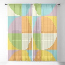Quarters Quilt 2 Sheer Curtain