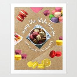 Eat more macarons canvas Art Print