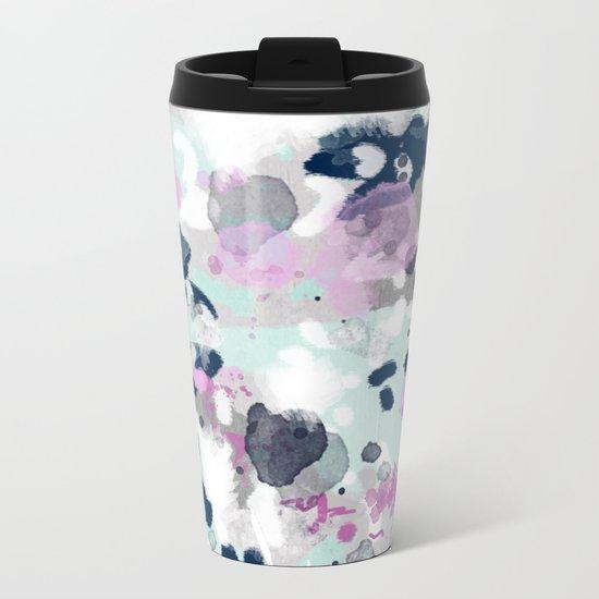Elsie - modern abstract painting trendy home dorm college decor canvas art Metal Travel Mug